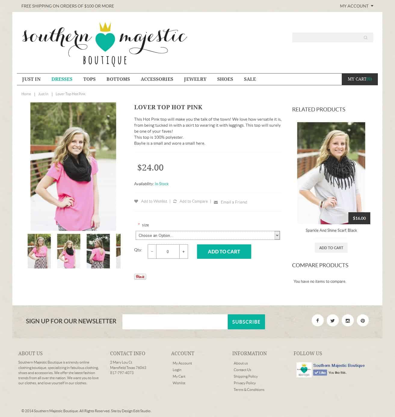 new site for southern majestic boutique