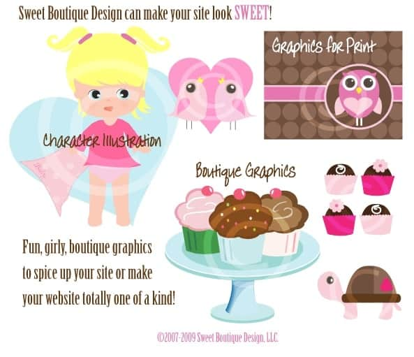Graphics from Sweet Boutique Design