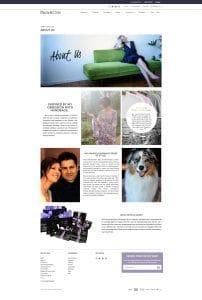 Paula & Chlo Custom About Us Page