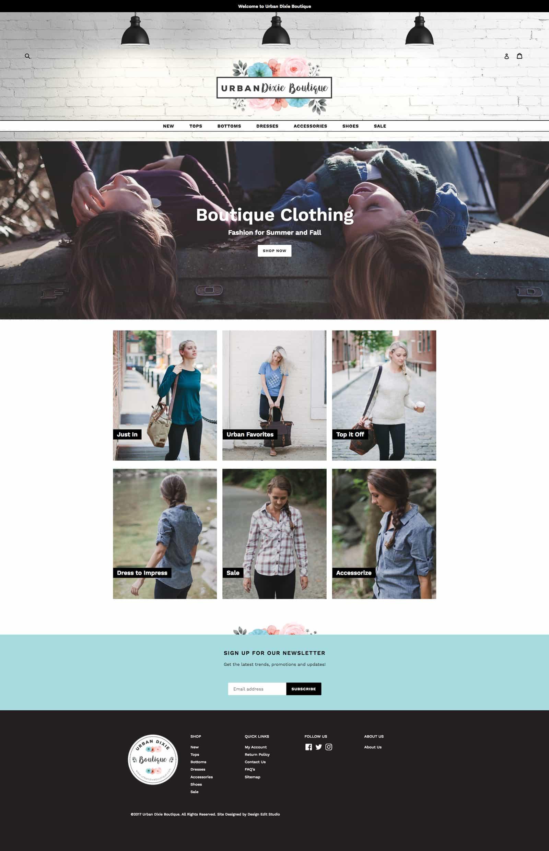 Urban dixie boutique boutique web design blog designs for Boutique design consultancy