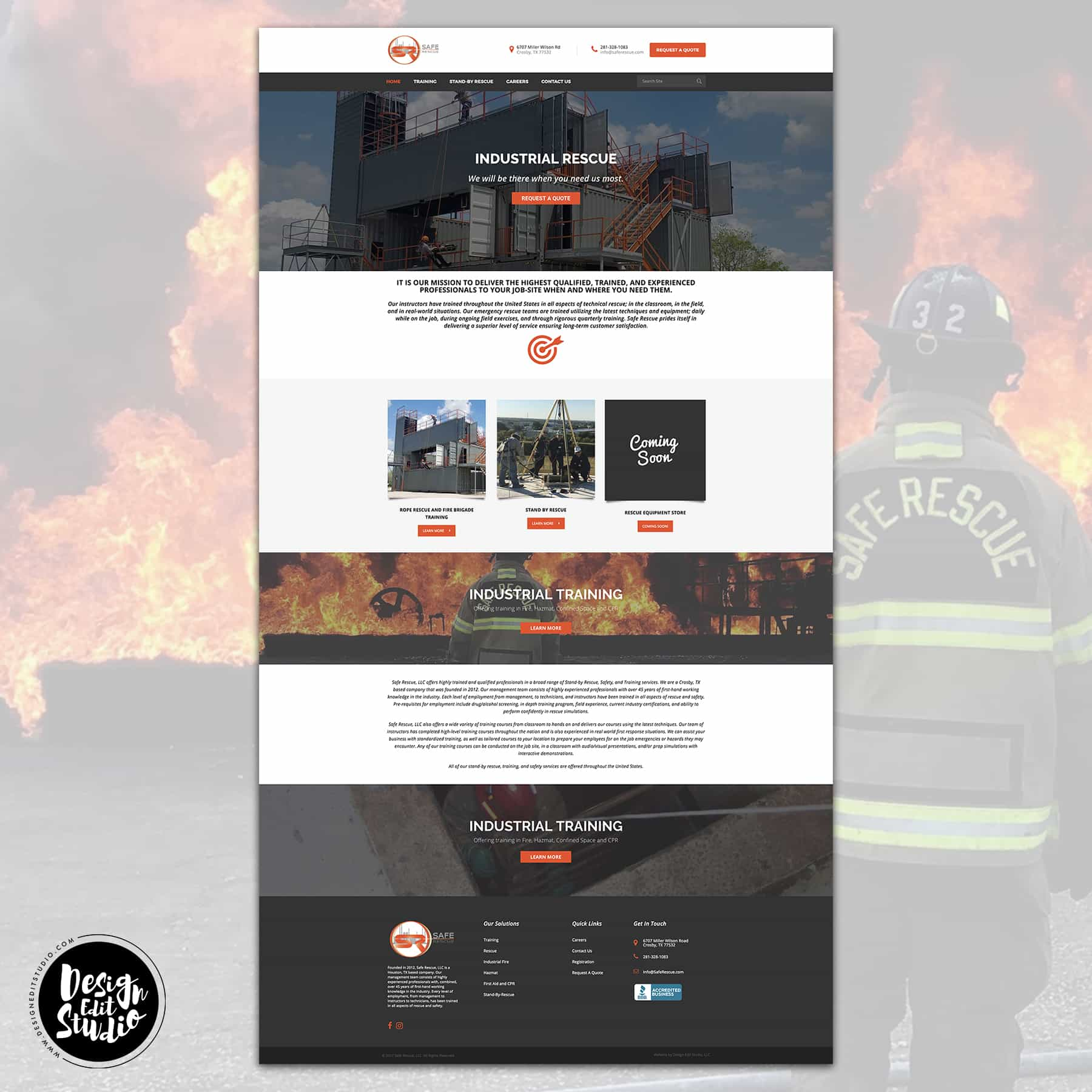 Custom Business Web Design for Safe Rescue LLC
