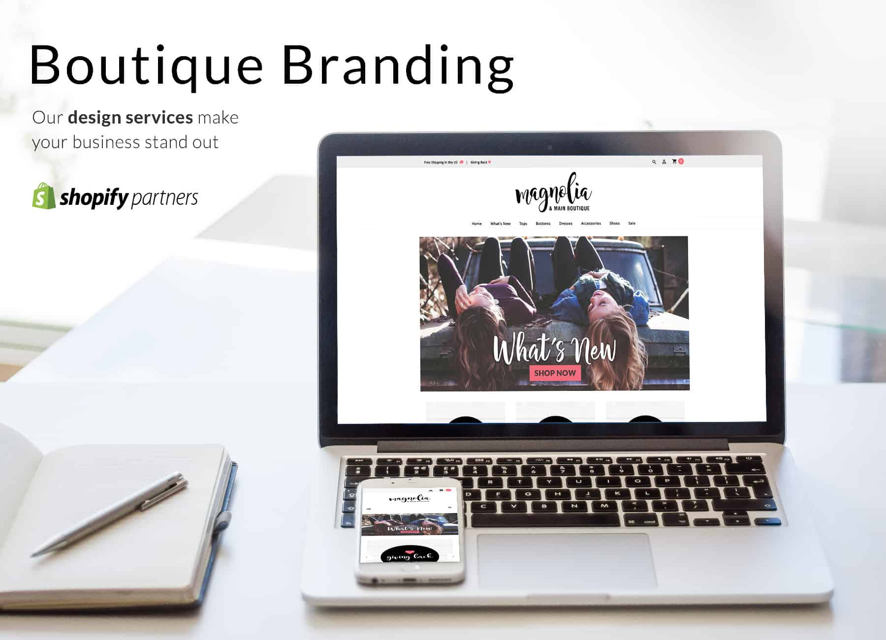 Boutique web design and branding services